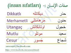 صفات Learn Turkish Language, Arabic Language, Turkish Lessons, English Vinglish, Learning Arabic, Grammar, Education, Turkey Country, Learning