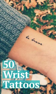 For anyone who is intrigued by small wrist tattoos, look no further! We've gathered 50 gorgeous wrist tats that are sure to spark some inspiration. Future Tattoos, Love Tattoos, Tattoo You, Body Art Tattoos, New Tattoos, Tatoos, Tattoo Quotes, Be Still Tattoo, White Tattoos