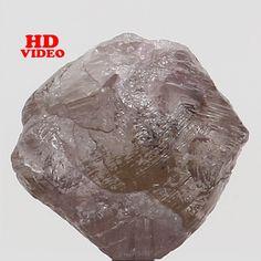 1.55 Ct Natural Loose Diamond Rough Natural Shape Brown Pink Color 6.00 MM N4195 #Narshihagemandjewels