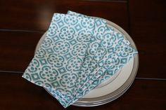 Set of 6 dinner napkins/ cloth napkins/ Hand block by KaurtureInc, $40.00