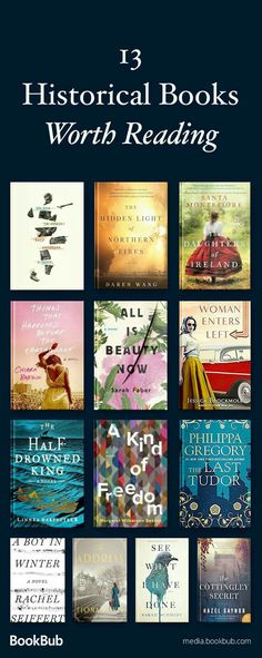 13 historical fiction books to read this year. If you love history books, check out these great novels, including some WWII fiction and books based on true stories. Including a new release from Philippa Gregory. Books And Tea, Book Club Books, I Love Books, Book Lists, Good Books, Book Nerd, My Books, Reading Lists, Teen Books