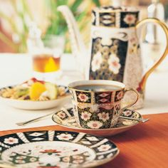 Traditional Imari by Royal Crown Derby Coffee Cups, Tea Cups, Royal Crown Derby, Japanese Textiles, Bone China, Tea Set, Cup And Saucer, Tea Time, Porcelain