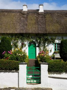 Traditional Cottage Doorway, Stradbally, County Waterford, Ireland Photographic Print at AllPosters.com