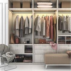 4 steps to declutter and organise your wardrobe. Walk In Wardrobe Design, Built In Wardrobe, Extra Storage Space, Storage Spaces, Minimalist Closet, Wardrobe Solutions, Wardrobe Makeover, Built In Furniture, Master Closet