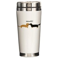 Doxy's smooching travel mug!