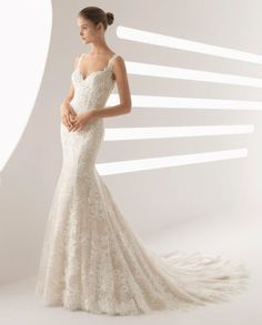 Rosa Clara- ADAMO  Amaze your guests in this spectacular, figure-flattering mermaid-style wedding dress with dreamy, sensual low back.