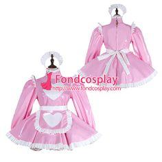 Sissy maid pvc dress lockable Uniform cosplay costume Tailor-made[G2284]