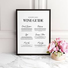 Wine Guide Print is a great, simple addition to any wine room, bar, or kitchen. Great gift for all wine connoisseurs. Have it framed as a gift for your favorite party hostess or wine lover. Dining Room Wall Art, Bathroom Wall Art, Kitchen Wall Art, Wall Art Decor, Kitchen Prints, Canvas Wall Art, Wall Art Prints, Canvas Paintings, Paint Bar
