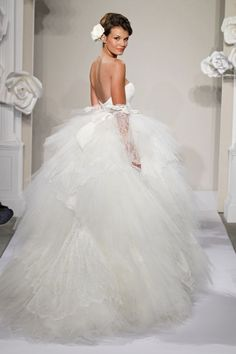 love it! Bridal Gowns: Pnina Tornai Princess/Ball Gown Wedding Dress with Sweetheart Neckline and Natural Waist Waistline