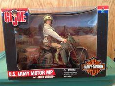 GI JOE WWII US ARMY MP MILITARY POLICE NO. 2 HARLEY DAVIDSON MOTORCYCLE NIB