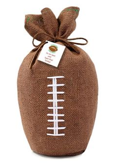 """The Pistacio Football"" -- Actually intended for ""football snacks,"" but the wrapping would be very cute for a gift for a football fan."