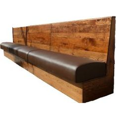Wooden Back Bespoke Seating | Banquette seating & bench seating | Spiro Designs