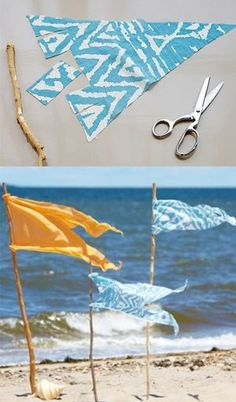 Make it easy for them to spot you with a stick or small branch and a few pieces of summery fabric. We have the how-to here: https://www.onekingslane.com/live-love-home/2012/07/beach-flag-markers/