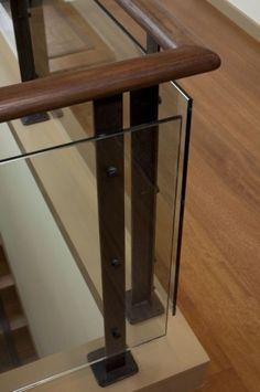 Modern Simple Sleek Wall Mounted Wooden Handrails Stairs