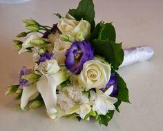 ☆Des Magnolias sur ma voie lactée☆: Bouquets pour Mariages en blanc/mauve/violet*