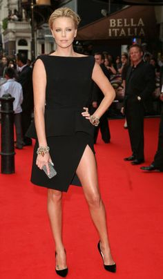 The complete evolution of the classic little black dress in 31 photos: Charlize Theron, 2008