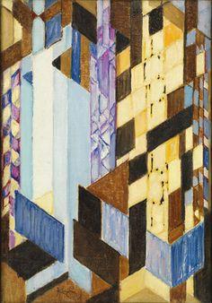 František Kupka. Vertical and Diagonal Planes. 1913-14, MoMA, NY