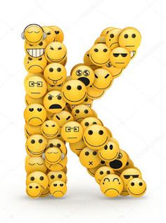 Letter k compiled smilies emoticons with different emotions Smiley Emoji, Emoji Faces, Smiley Faces, Graffiti Wallpaper Iphone, Emoji Wallpaper Iphone, Emoji Love, Emoji Pictures, Alphabet Wallpaper, Small Canvas Art