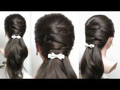 Everyday hairdressing tutorial (for school / work) ❀ Quick and easy braid - YouTube -  - #frisuren