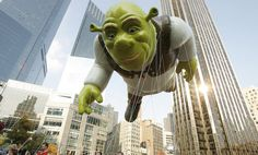 From 2007 to 2010, the Shrek balloon saw Dreamworks' trademark character tower over the parade route  #Thanksgiving