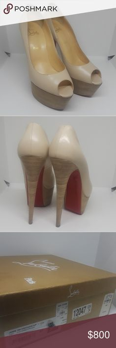 LOUBOUTIN Jamie platform heels 100% AUTHENTIC European size 41 fit a women's size 10 amazing condition no tears or scuffs includes box  beautiful nude platform red bottoms perfect for any spring or summer occasion   #chanel #ysl #louboutin #redbottom #saint laurent #jimmy choo #louis vuitton #lv #Gucci #saksfifth #neiman marcus #hermes #fenty #salvatore ferragamo #prada #designer #jeffrey Campbell #fendi #moschino #jeremy Scott #kate spade #Burberry #dolce gabbana #tory burch #marc Jacobs…