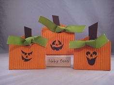 Pumpkin Candy Holder by label - Cards and Paper Crafts at Splitcoaststampers