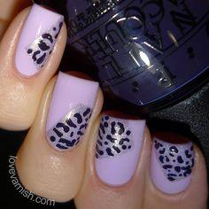 Pinned from www.lovevarnish.com Nail art // 40 Great Nail Art Ideas - 3 shades of purple