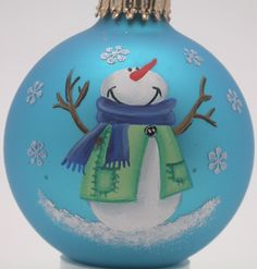 Hand Painted Custom Snowflake Snowman Christmas Ornaments and Christmas Decorations