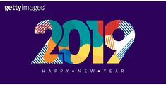2019 New Year Beautiful Number Template Background 이미지 - 게티이미지뱅크 Typo Design, Graphic Design Typography, Happy New Year Banner, Text Effects, 20 Years Old, Banner Design, Graphic Illustration, Logo Style, Templates