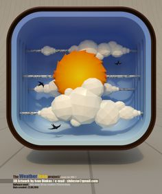 The Weather Icon by Ivan Dinkov, via Behance