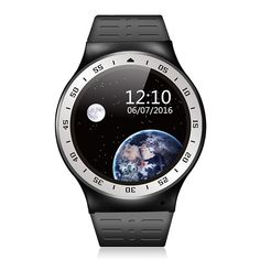 """Khfun S99A Android OS V 5.1 Smart Watch 3G Wifi SIM Bluetooth Camera for Android Phone (Black+Sliver). Display: 1.33"""" IPS HD touch screen with resolution 360*360. he Watch supports: SOS (send message and make emergency call), USB Debugging (sync data between computer and watch), APK Download and Setup, WiFi, WLAN, Bluetooth, Browser, GPS, Maps, Dialer, SMS (Send/Receive), Contacts, Incoming Calls Remind, Camera (Photo/Video), Music Play, Recorder, Pedometer (step counts & distance)…"""