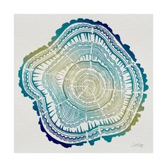 Tree Rings in Ombre Giclee Print by Cat Coquillette at Art.com