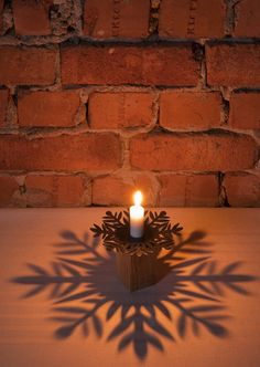 candle holder.   The right thing sometimes can turn a space - no matter how small - into an inspiring place to be.
