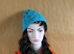 Women Hat  Ice Blue Slouchy HatWomen Beanie by recyclingroom