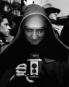 nun in black and white,,