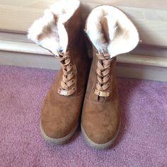Michael Kors heeled boots Swede Michael Kors kids heeled boots! Chestnut color, worn once! Make me an offer! Michael Kors Shoes Heeled Boots