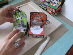 Tutorial ~ How to Make a Magnetic Cover with Pen Holder For a Note Pad #1 - YouTube