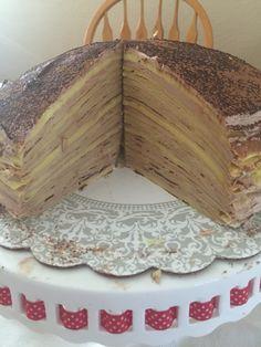 Nutella Crepe Cake Decorating