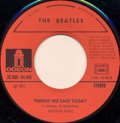 Beatles Art, The Beatles, 45 Records, Vinyl Records, Much Music, Good Music, Beatles Singles, Things We Said Today, A Hard Days Night
