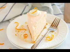 This No Bake Orange Creamsicle Cheesecake is a creamy, easy to make, no bake dessert with a sweet orange flavor, inspired by a delicious summer treat!