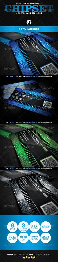 Chipset Modern - Business Card   $6