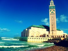 Hassan II Mosque, Casablanca. A beautiful mosque by the sea