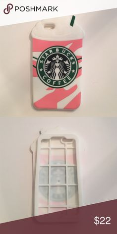 Adorable Starbucks iPhone 6 Plus 6s plus cover Adorable Starbucks silicone iPhone 6/s Plus cover // please note this only fits an iPhone 6 Plus or 6s plus // new // purchased and didn't use // it came with that black dot inside (see pic 2) Boutique Accessories Phone Cases