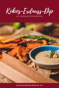 Der vegane Dip passt super zu Süßkartoffel-Wedges oder für Fleischesser auch zu gebratenem Hühnerfleisch. Foodblogger, Super, Snacks, Ethnic Recipes, Brunch Recipes, Vegetarian Recipes, Salads, Finger Food, Chinese Food