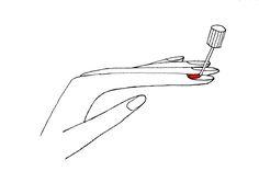 Illustration nail polish application Nail Polish, Nails, Illustration, Blog, Finger Nails, Ongles, Nail Polishes, Polish, Blogging