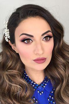 Bright Wedding Makeup Ideas For Brunettes ❤ See more: http://www.weddingforward.com/wedding-makeup-for-brunettes/ #weddingforward #bride #bridal #wedding #weddingmakeup