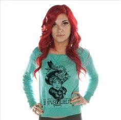 Women's Fox Off-The-Shoulder Sweatshirt by InkAddict