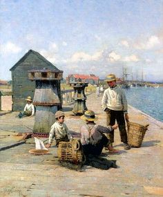 Walter Frederick Osborne (1859-1903):  A tale of the sea