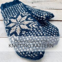Frost lined colourwork mittens by Allison O'Mahony The Frost mittens, inspired by classic Scandinavian motifs, feature a large Nordic star, bands of colou. Knitted Mittens Pattern, Fair Isle Knitting Patterns, Knit Mittens, Knitted Gloves, Loom Knitting, Knitting Socks, Double Knitting, Knitting For Beginners, Stitch Markers