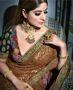design of blouse indian weddings ~ design of blouse - design of blouse patterns - design of blouse back - design of blouse sleeves - design of blouse indian weddings Back Design Of Blouse, Blouse Designs, Indian Dresses, Indian Outfits, Indian Clothes, Indian Blouse, Indian Sarees, Indian Wear, Sabyasachi Sarees